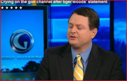 TIGER WOODS STATEMENT MAKES WEENIE GOLF CHANNEL ANNOUNCER